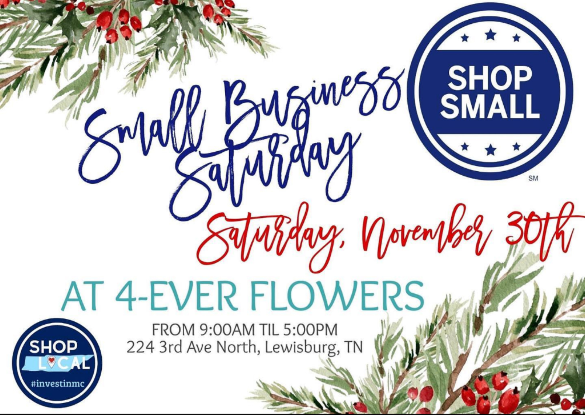 4ever Flowers Small Business Saturday