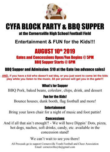 Cornersville Block Party