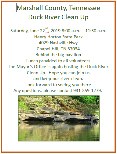 Duck River Clean Up