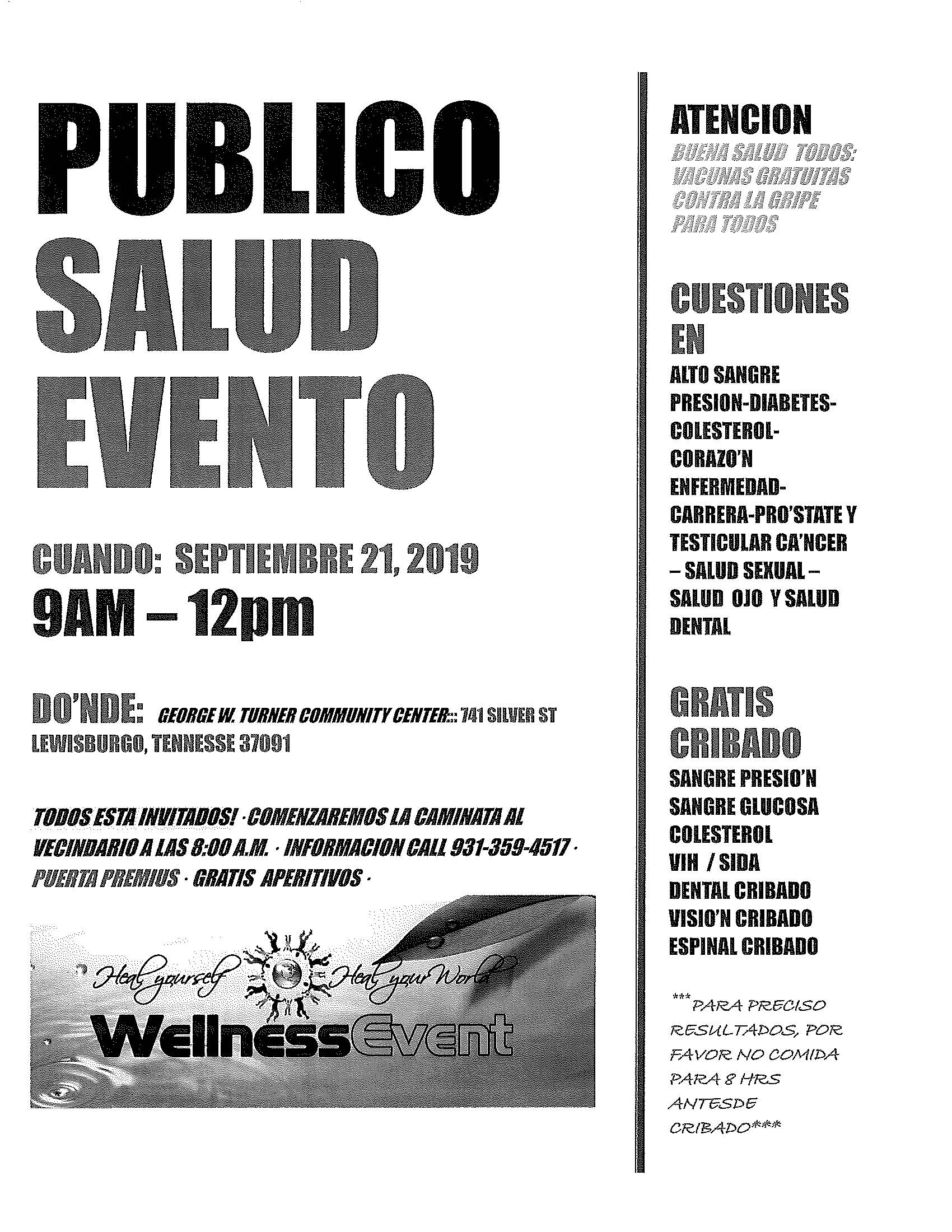 Health Fair Flyer Page 2