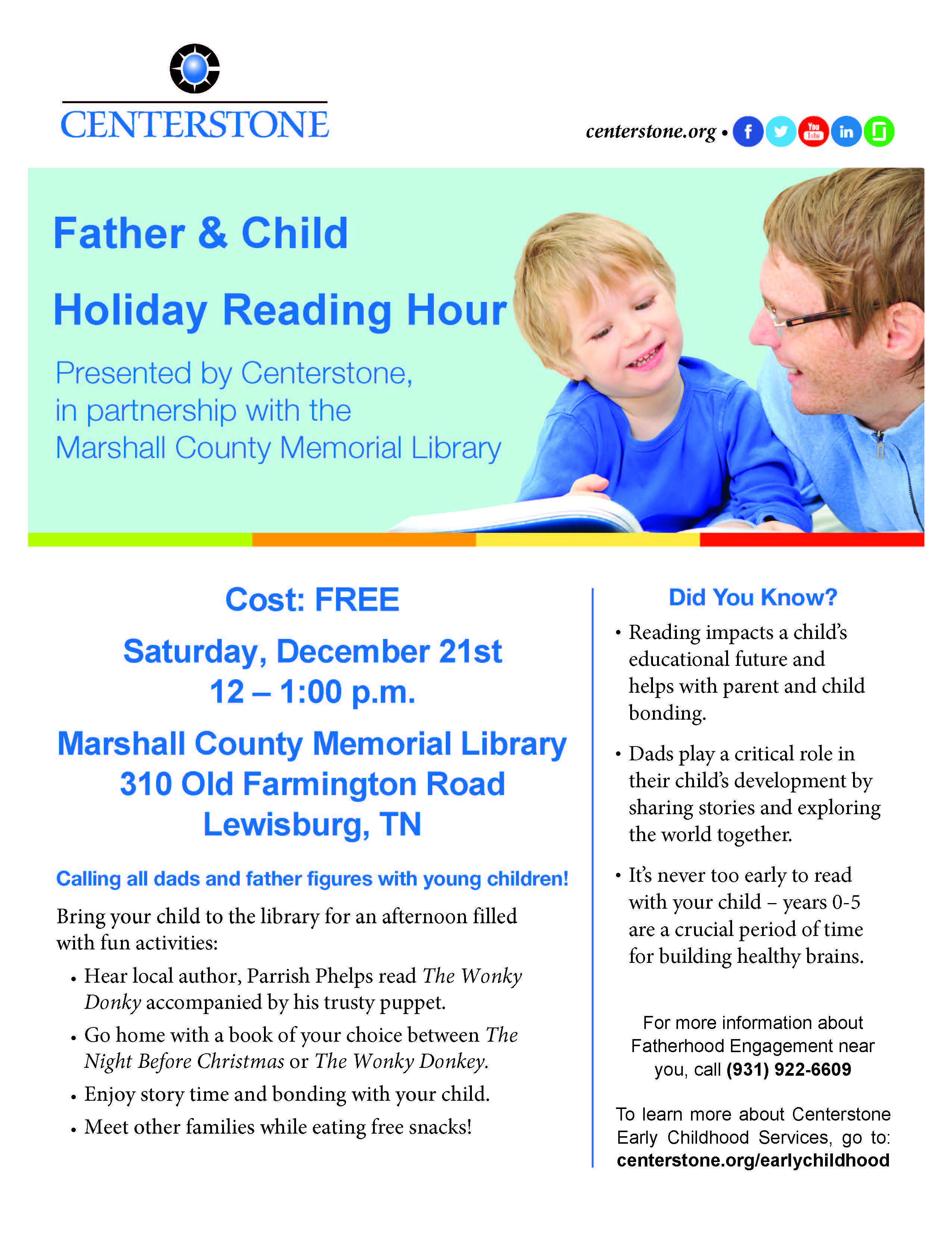 Holiday Reading Day Lewisburg