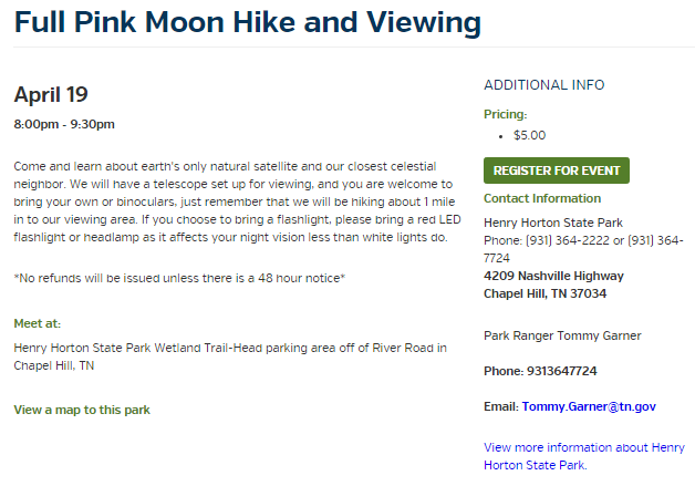 Horton Full Moon Pink Hike