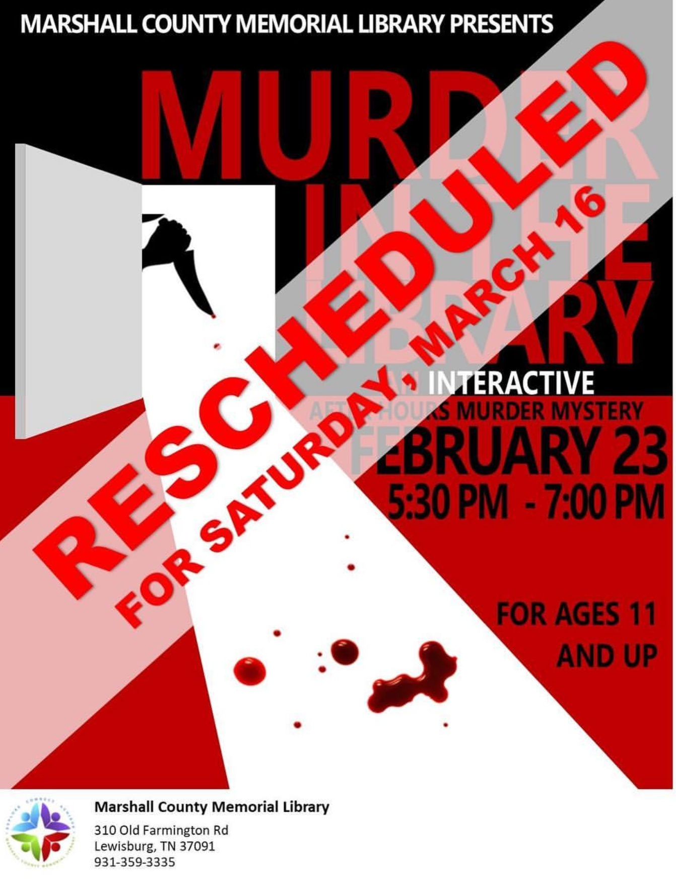 Library Murder Rescheduled