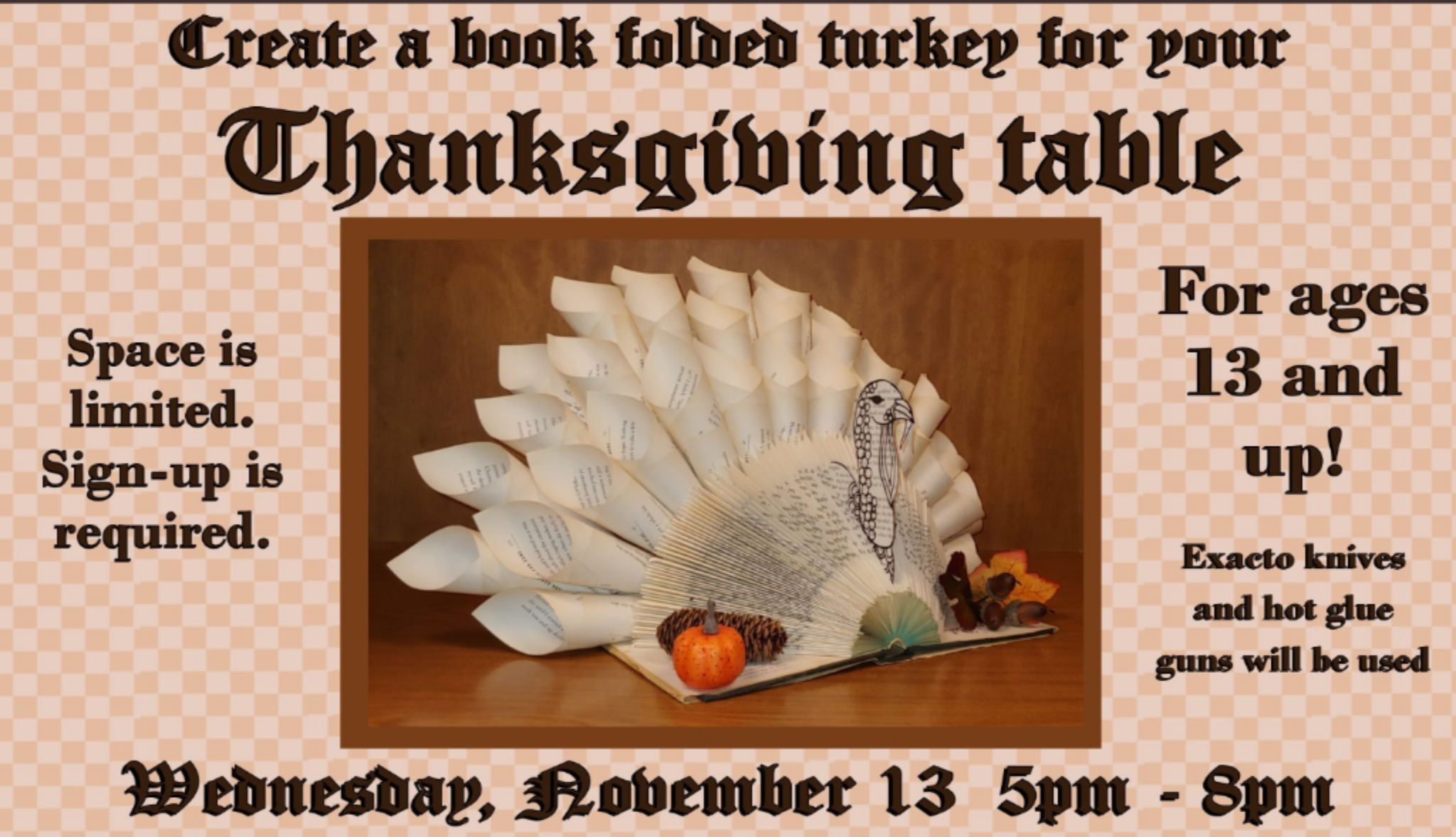Library Turkey Folded
