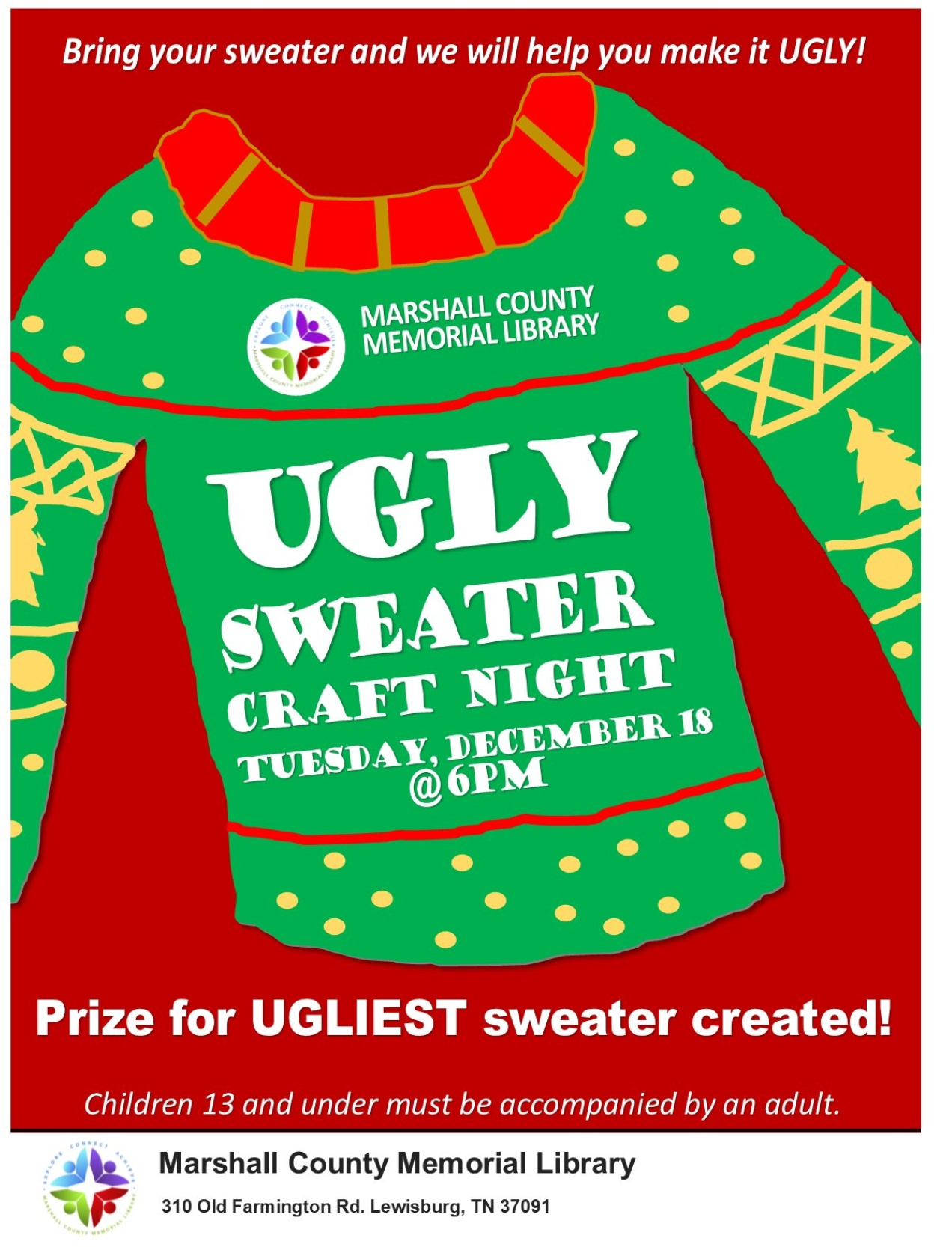 Library Ugly Sweater