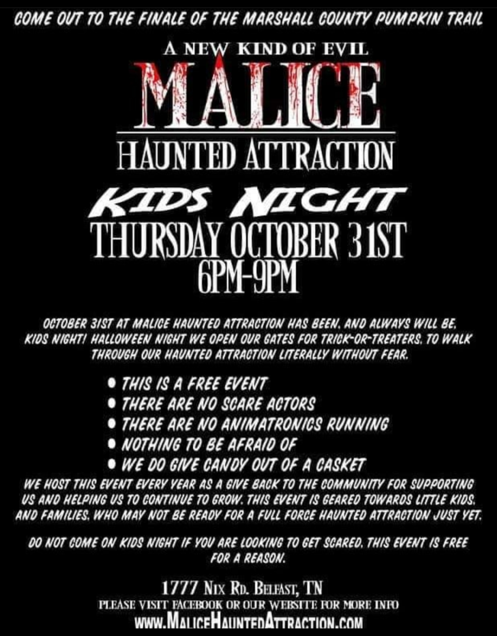 Malice Kids Night