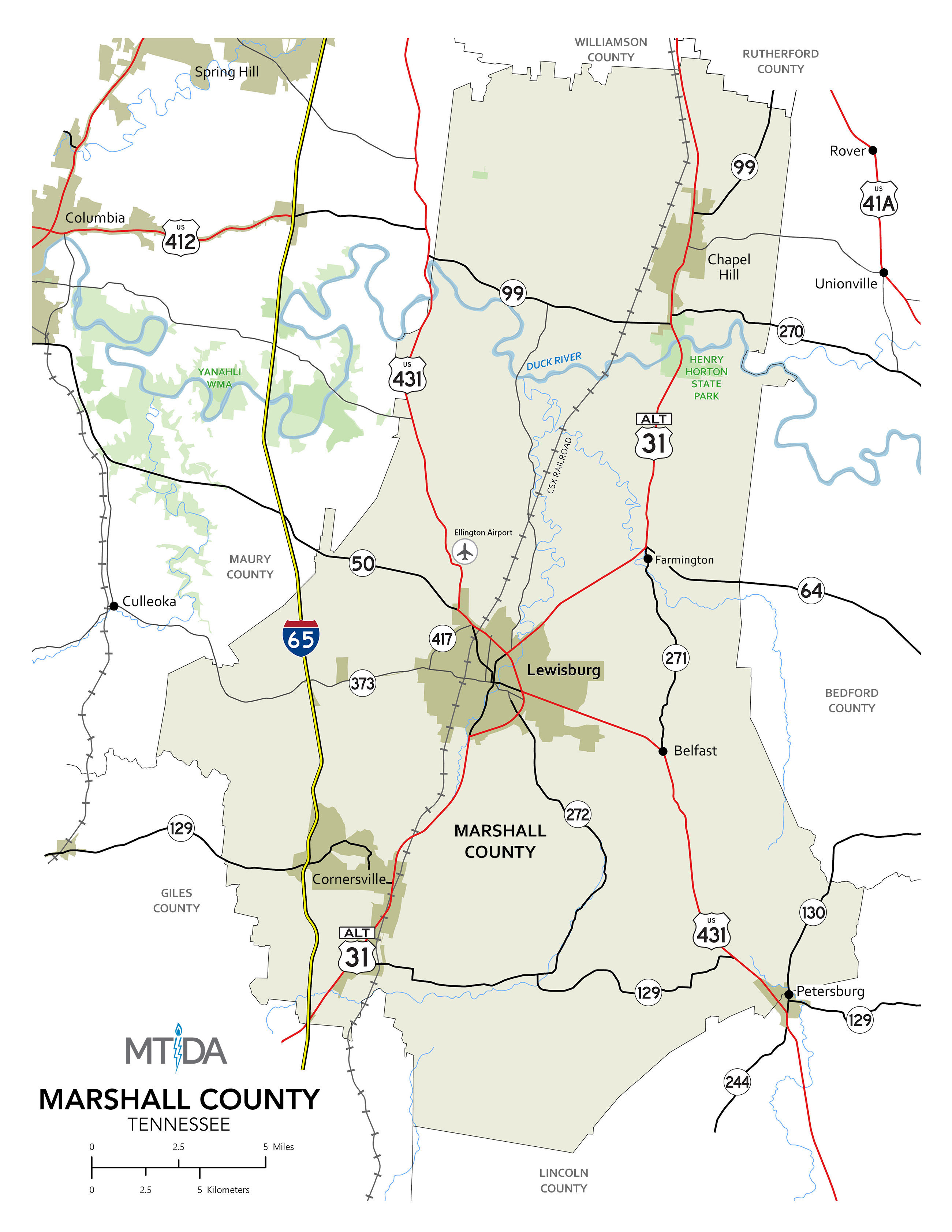 Marshall County Map