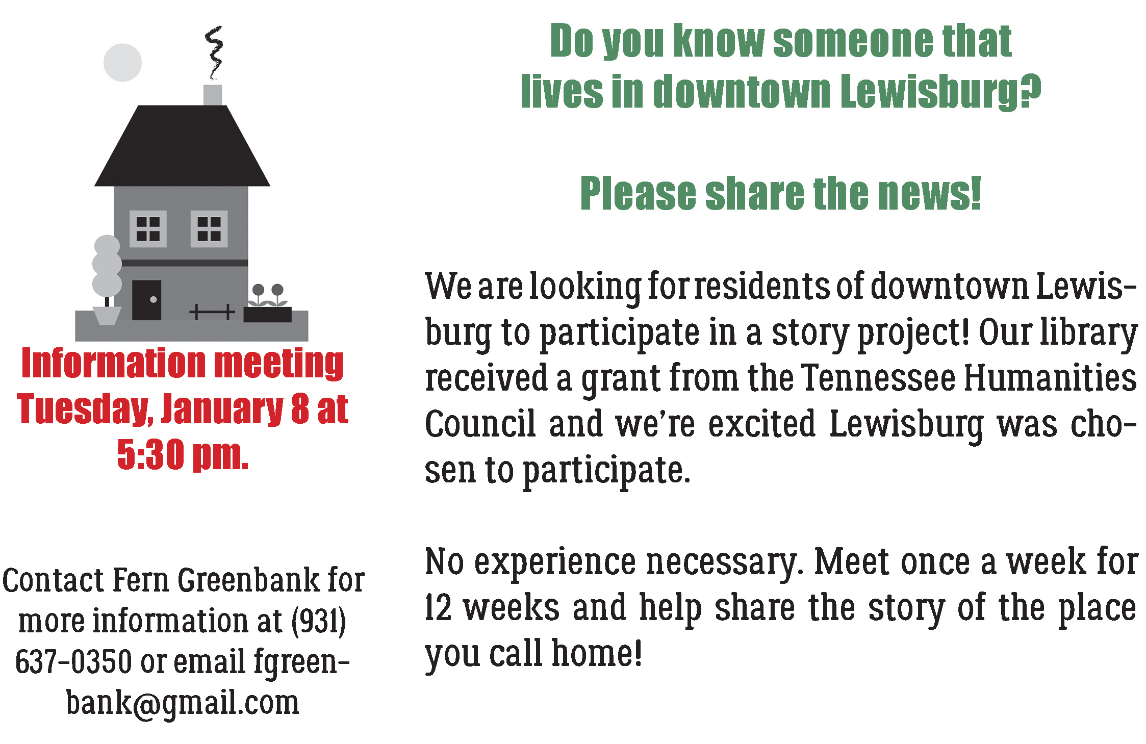 Neighborhood Project Flyer