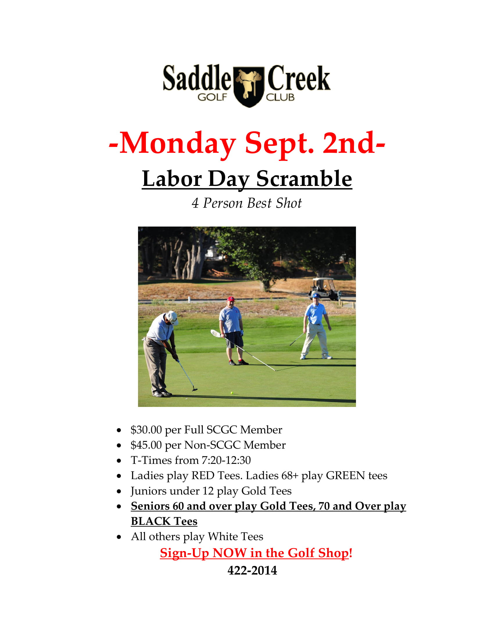 Saddle Creek Labor Day