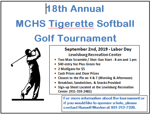 Tigerette Softball Golf Tournament