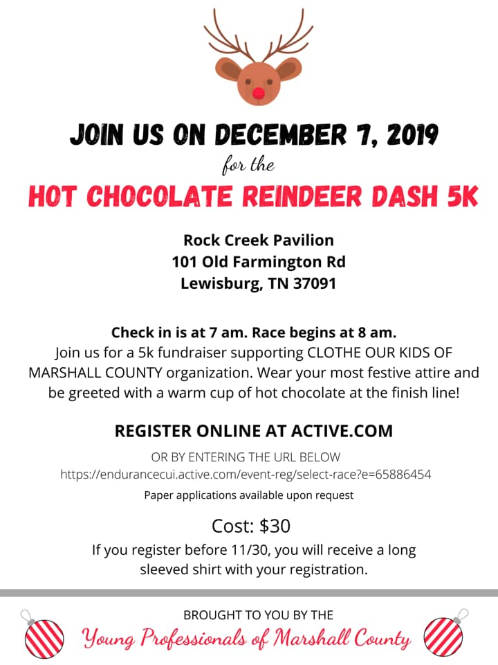 YP Hot Chocolate and Reindeer 5k